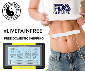 HealthmateForever, model waist, logo, livepainfree, Pain relief muscle stimulation